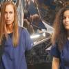 Danielle Donahue as Renata and Jamie Morgan as Kelly Jo Knight in the Sci-Fi / Horror feature AMITYVILLE ISLAND from Polonia Brothers Entertainment.